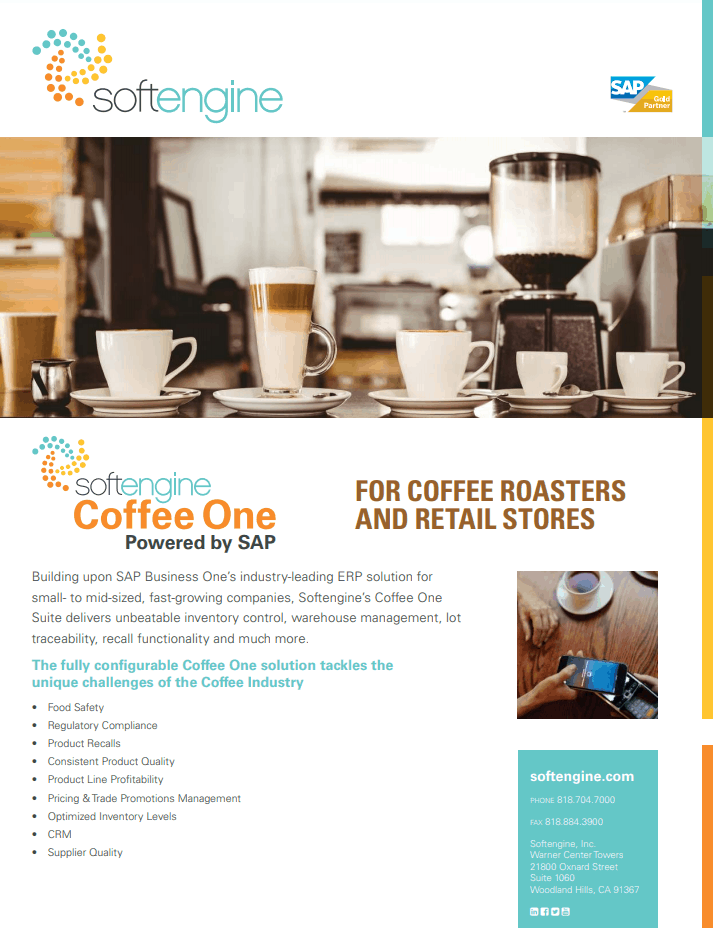 Get Coffee ERP With SAP Business One