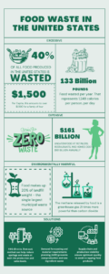 food distribution waste infographic